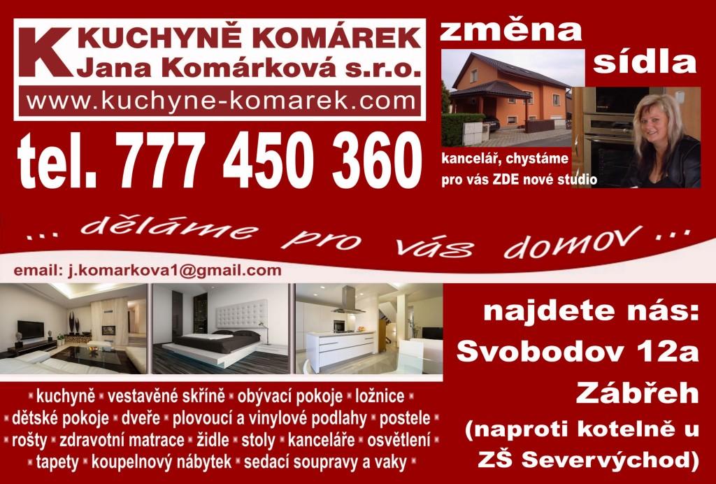Kuchyně a interiéry Komárek Zábřeh Jana Komárková s.r.o. 2