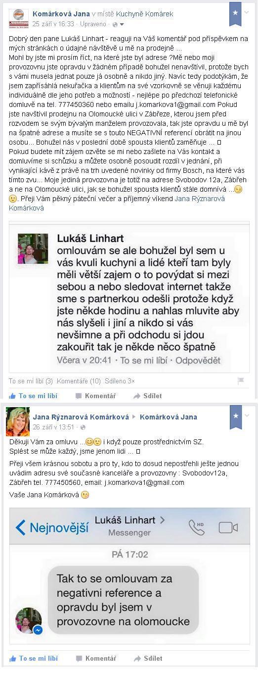 reference Kuchyně Komárek