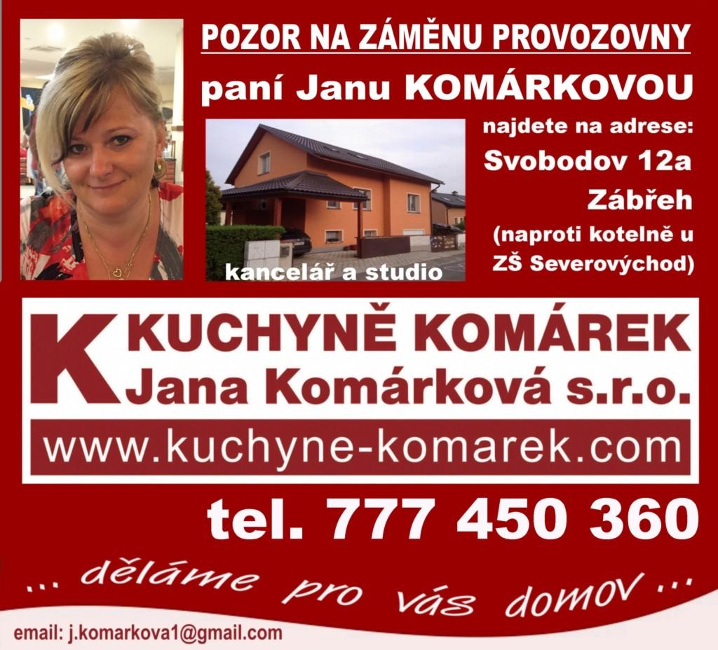 Kuchyne Komarek Zabreh listopad 2015