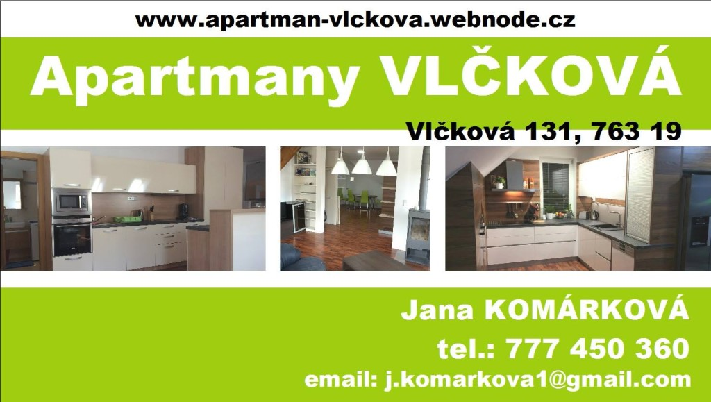 ubytování Zlín apartmán Vlčková